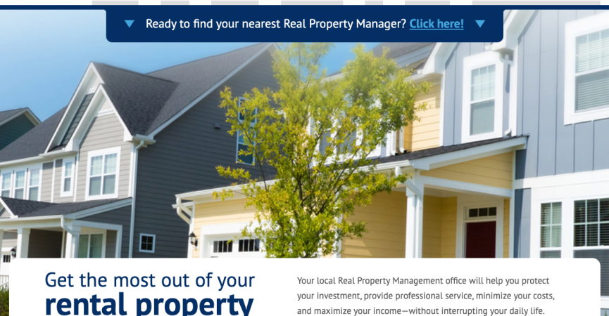 Screenshot of Real Property Management's Homepage
